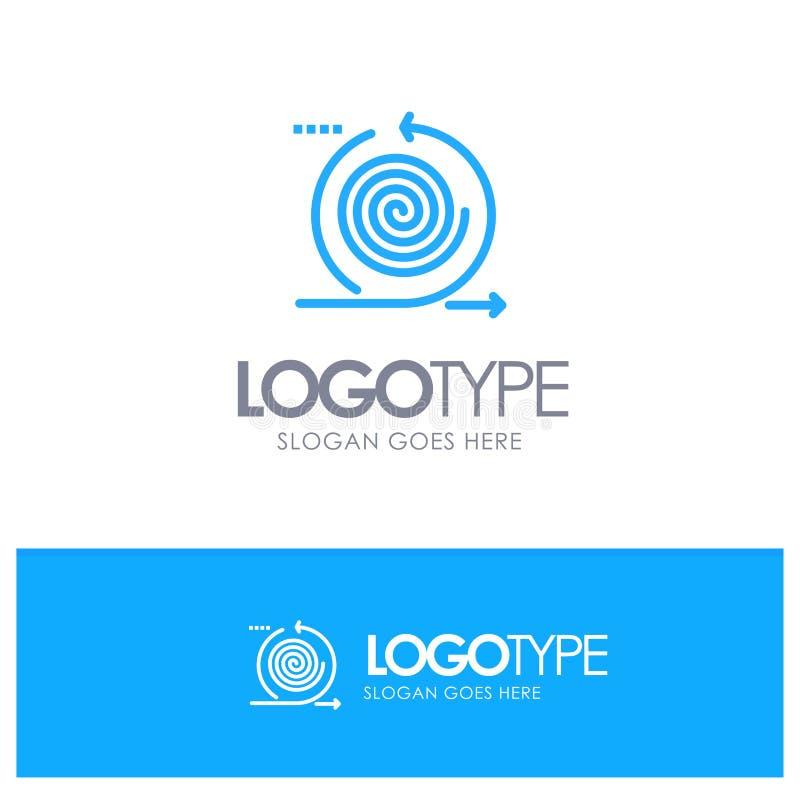Affaires, cycles, itération, gestion, logo solide bleu de produit avec l'endroit pour le tagline illustration stock