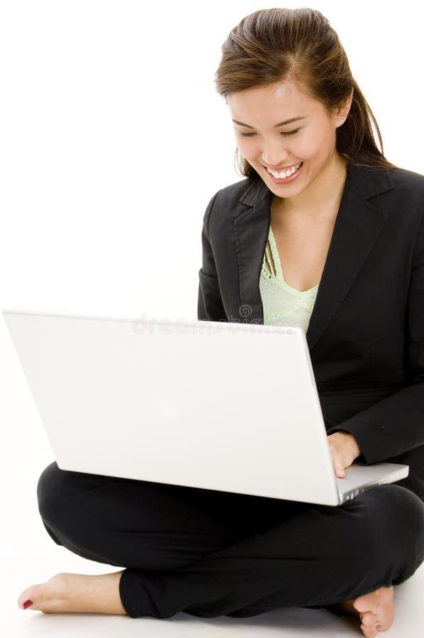 Affaires d'ordinateur portatif photo libre de droits