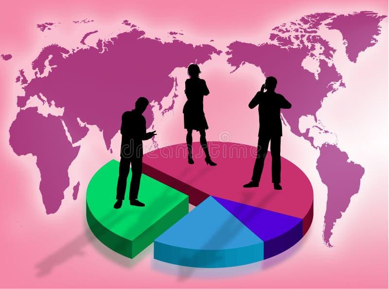 Affaires dans le monde illustration libre de droits