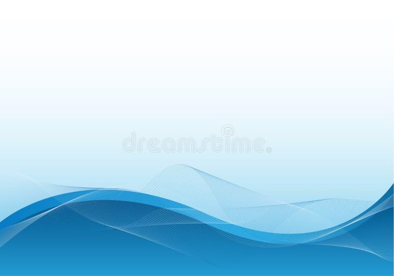 affaires de bleu de fond illustration stock
