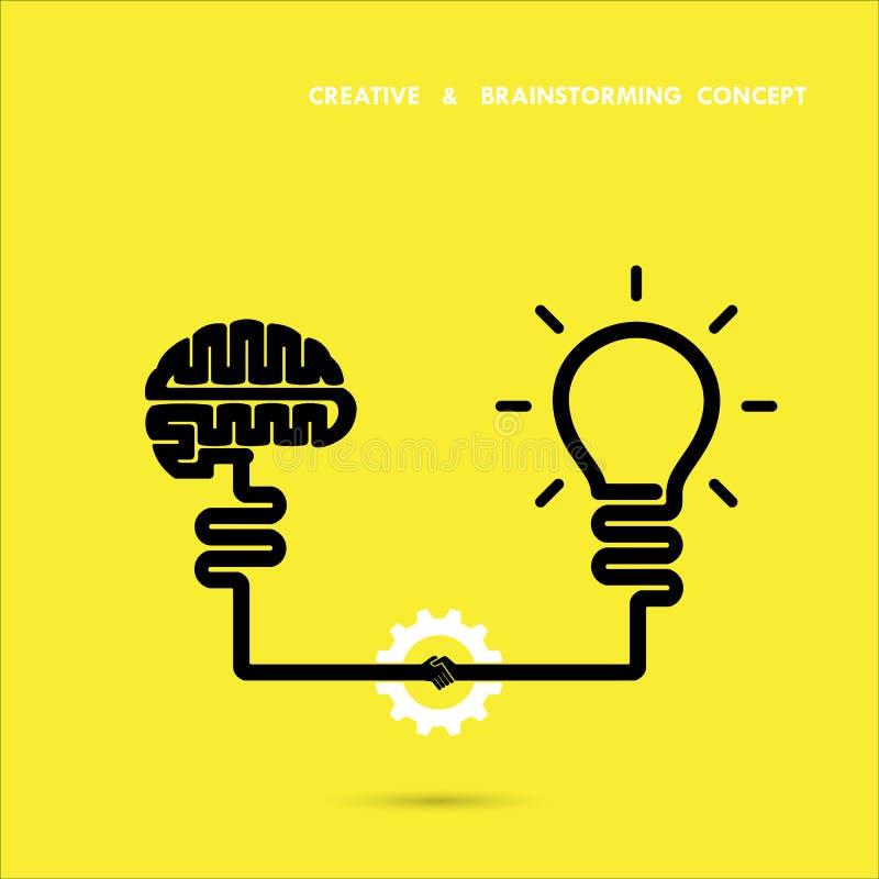 Affaires de concept d'échange d'idées et idée créatives d'éducation illustration de vecteur