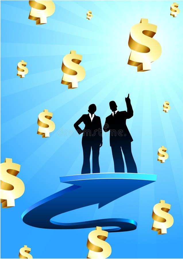 Affaires de fond de bénéfices avec deux personnes illustration stock