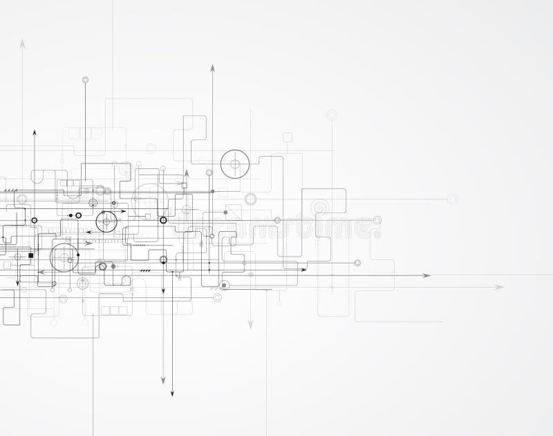 Affaires de fond de technologie et direction abstraites de développement illustration stock