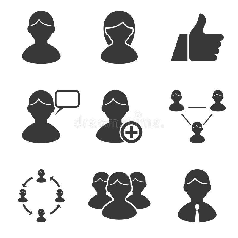 Affaires de gestion de ressources humaines de personnes d'utilisateurs illustration de vecteur