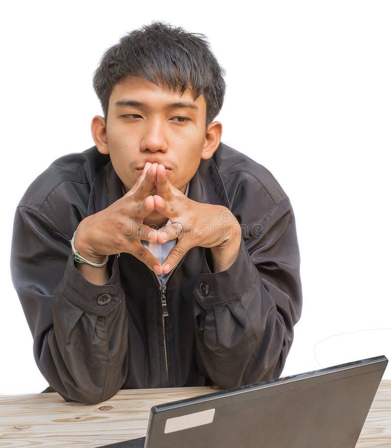 Affaires de jeune homme de portrait Idée déçue d'effort photographie stock libre de droits