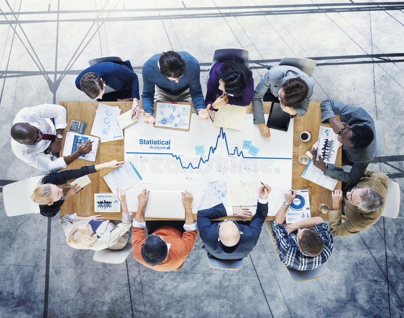 Affaires de poste de travail de stratégie d'association de planification de séance de réflexion photos stock