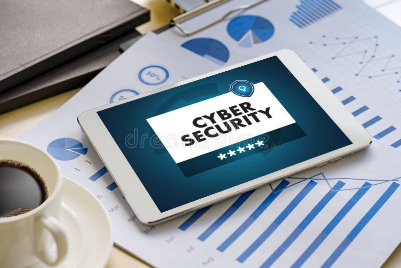 Affaires de SÉCURITÉ de CYBER, technologie, alerte d'antivirus de pare-feu pro image libre de droits
