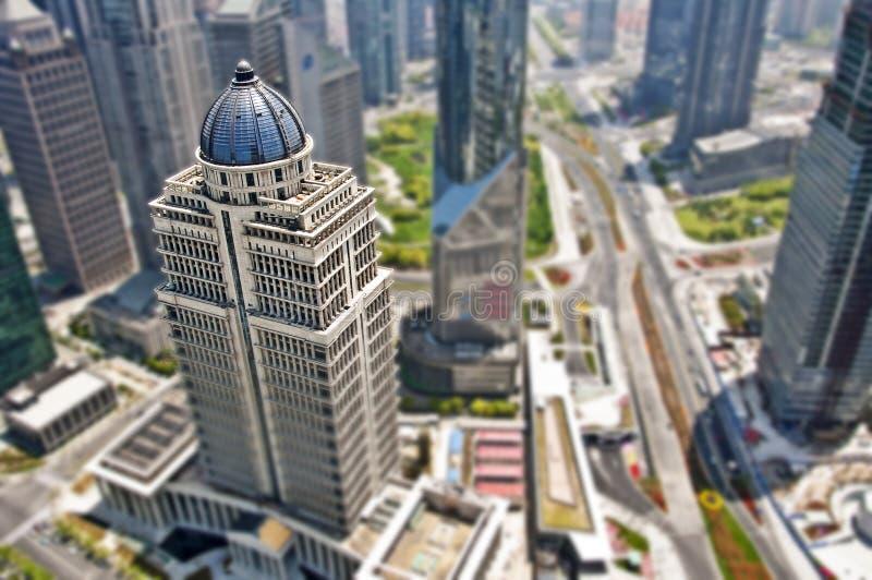 Affaires de secteur de Changhaï Lujiazui images libres de droits