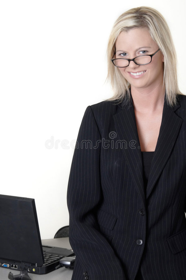 Affaires de sourire semblantes intelligentes images stock
