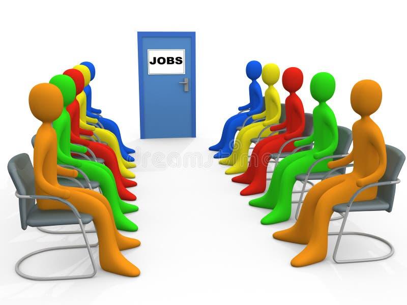 Affaires - demande d'emploi illustration stock