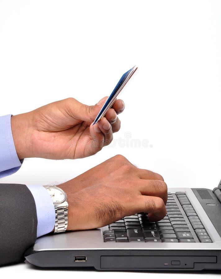 Affaires en ligne image libre de droits