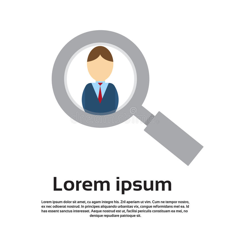 Download Affaires En Verre De Agrandissement Person Portrait Candidate Concept Recruitment De Bourdonnement Illustration de Vecteur - Illustration du employé, businessperson: 77155850