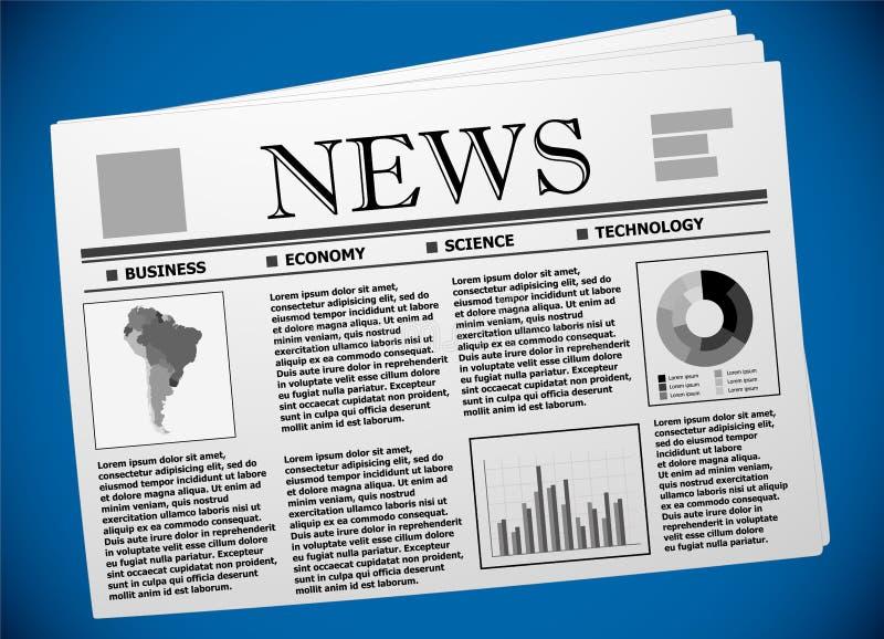 Affaires et économie de l'Amérique du Sud sur le journal illustration de vecteur