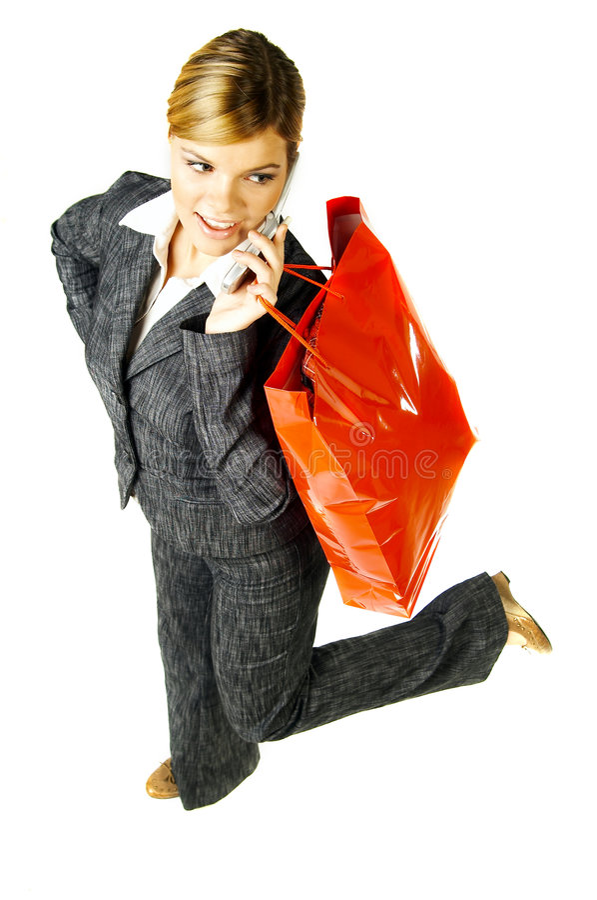 Affaires et achats photographie stock