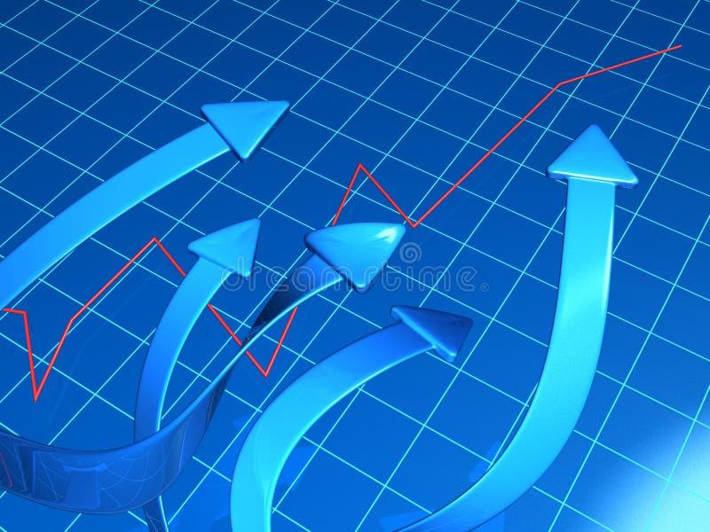 Affaires et concept financier d'accroissement illustration de vecteur