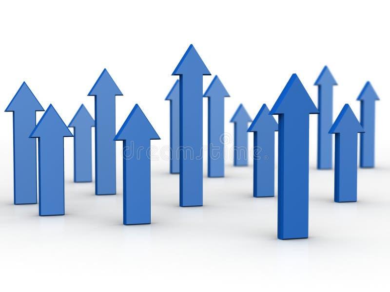 Affaires et concept financier d'accroissement illustration stock