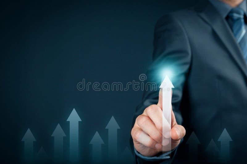 Affaires et concept personnel de croissance images stock