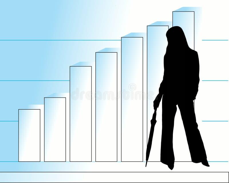 Affaires et femme illustration libre de droits