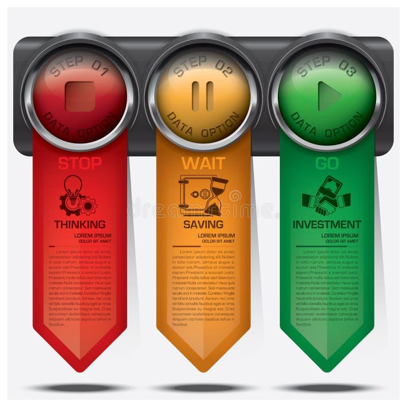 Affaires et financier avec le signe Infographic Diagr de feu de signalisation illustration stock