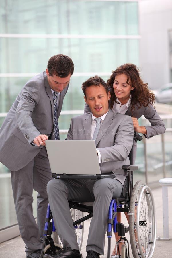 Affaires et handicap photos libres de droits