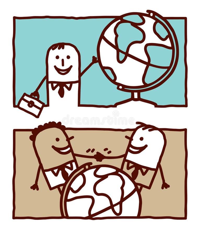 Affaires et monde illustration de vecteur