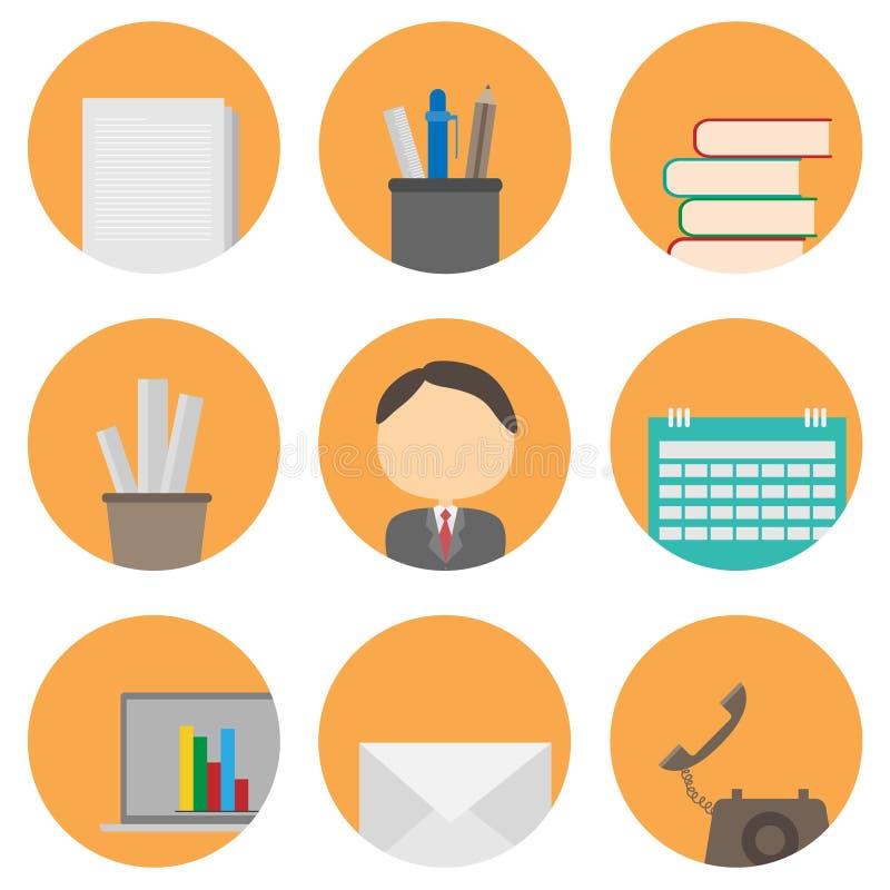 Affaires et positionnement de graphisme de bureau illustration de vecteur