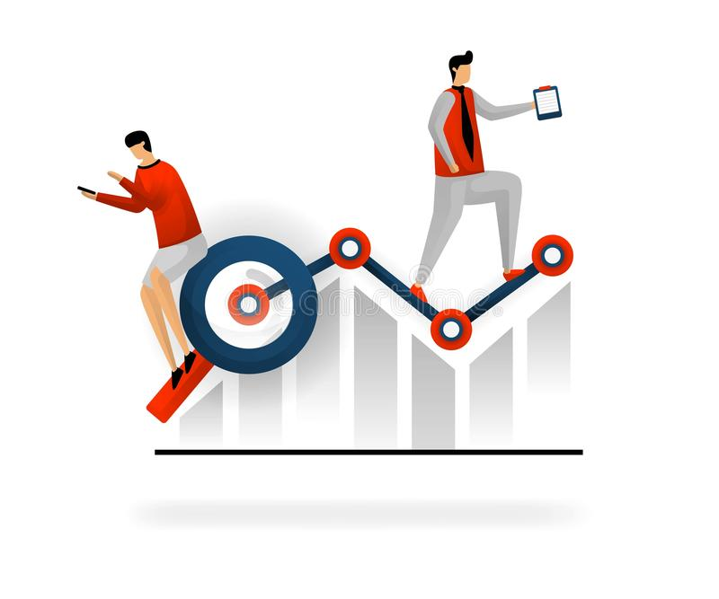 Affaires et promotion d'illustration de vecteur choisissez les mots-clés pour augmenter le trafic recherchez les meilleurs mots-c illustration stock