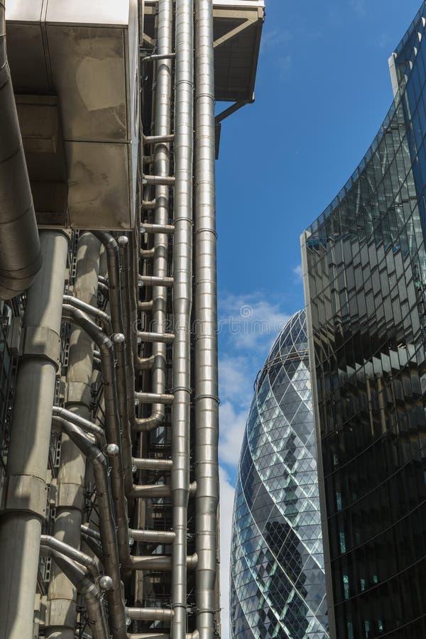 Affaires et secteur financier de Londres au R-U photos libres de droits