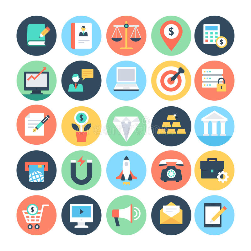Affaires et SEO Vector Icons 2 illustration de vecteur