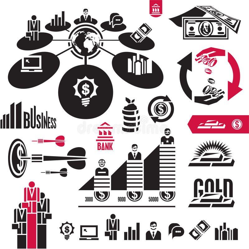 Affaires, finances, opérations bancaires, argent illustration libre de droits