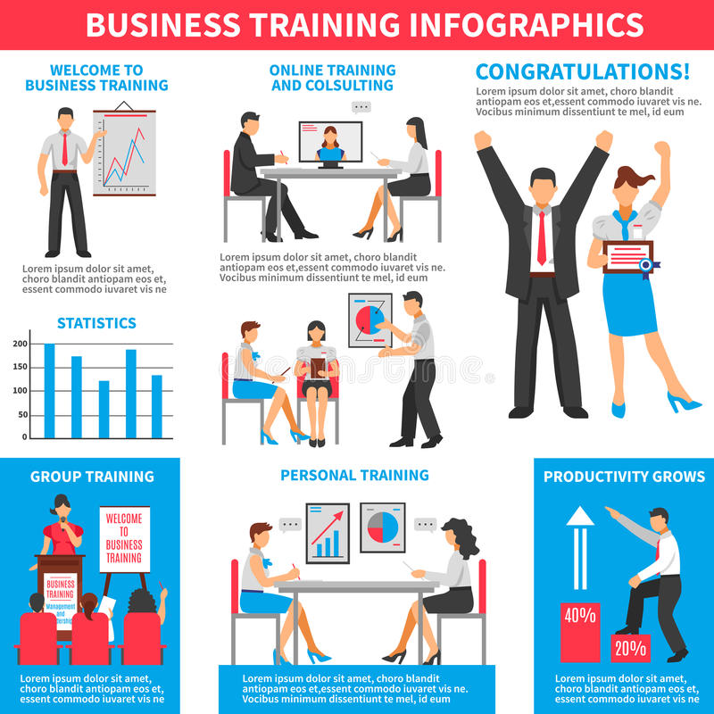Affaires formant Infographics illustration libre de droits