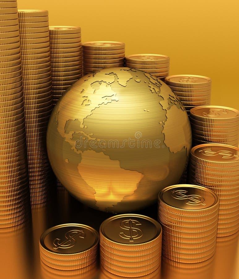 Affaires globales illustration libre de droits