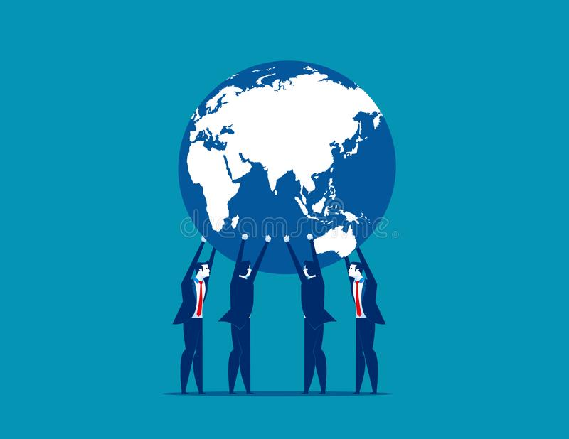 Affaires globales Illustration de vecteur d'affaires de concept illustration de vecteur