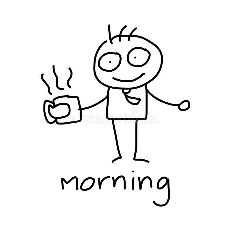 Download Affaires Heureuses De Concept De Bande Dessinée De Dessin De Main Illustration Stock - Illustration du garçons, cartoon: 45363168