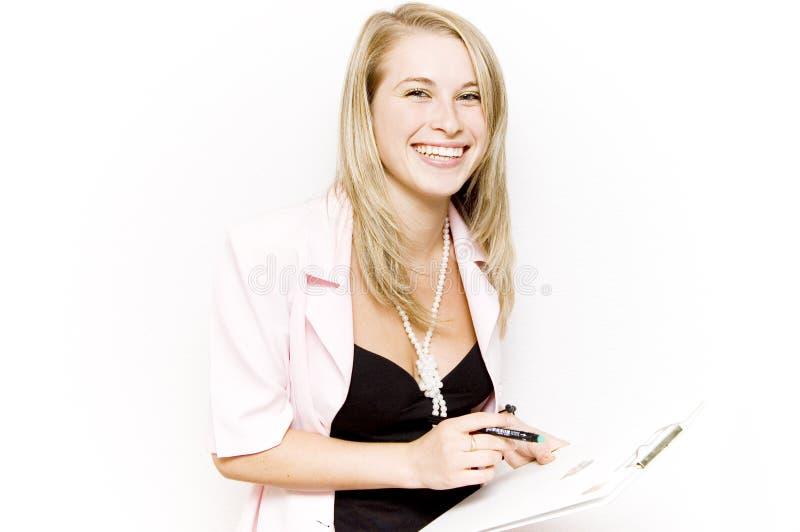 Affaires heureuses de sourire photographie stock libre de droits