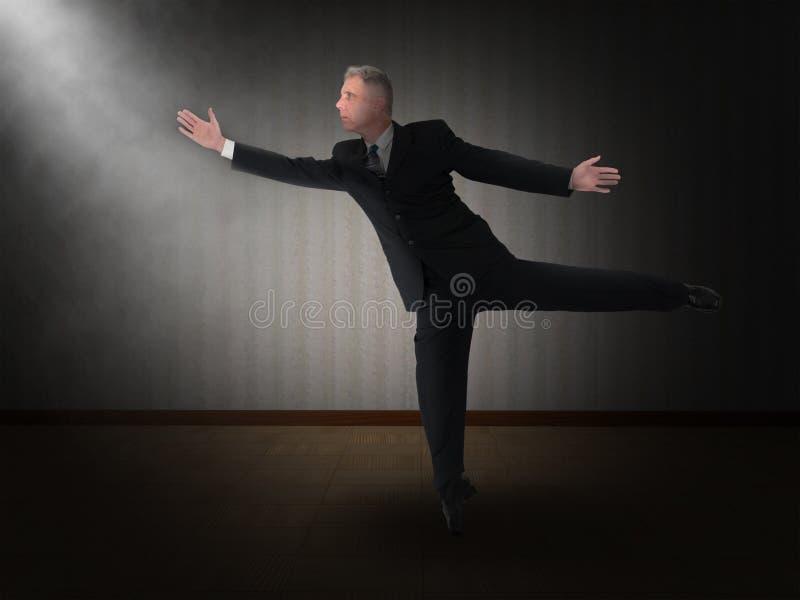 Affaires, homme d'affaires, danseur classique, danse photo libre de droits
