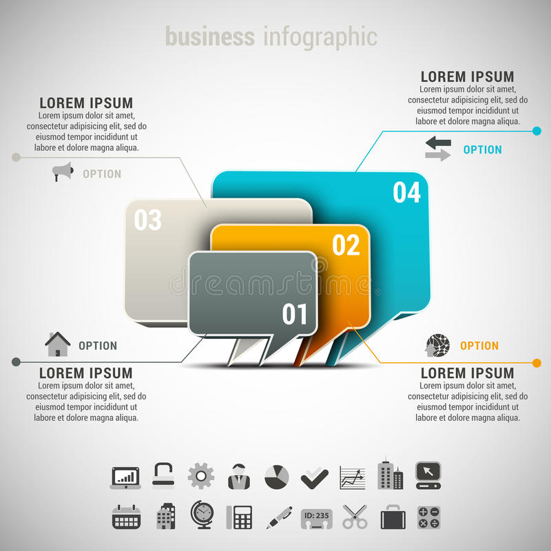 Affaires Infographic illustration stock