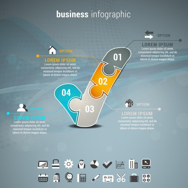 Affaires Infographic illustration libre de droits