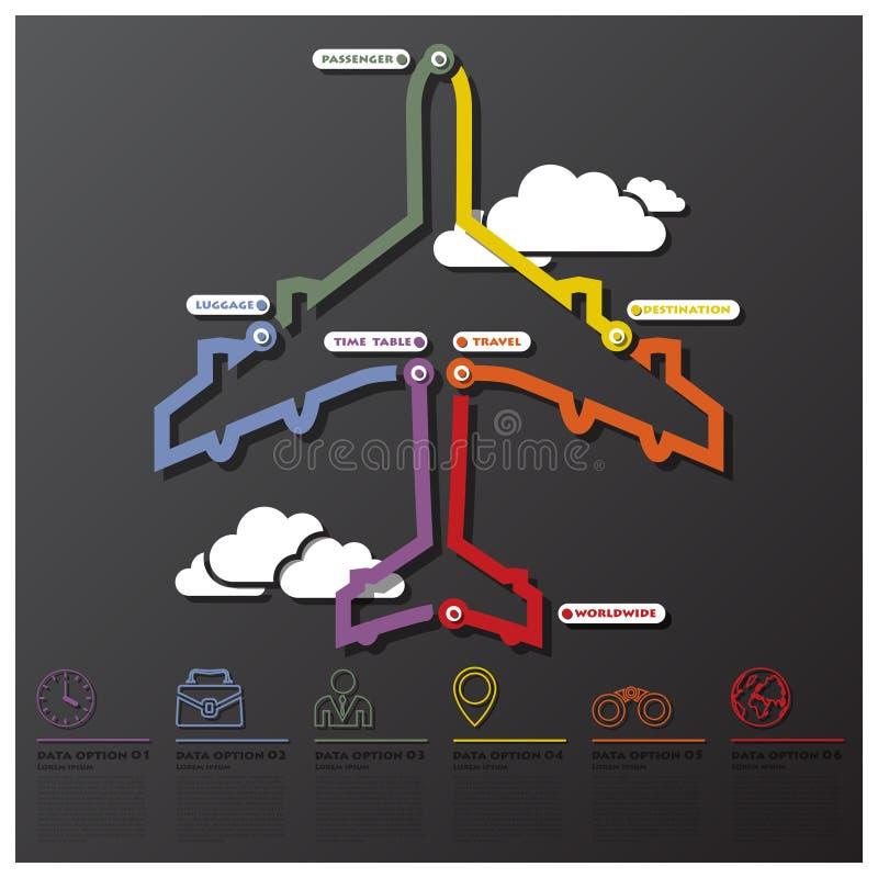 Affaires Infographic de chronologie de connexion de voyage et de voyage illustration libre de droits