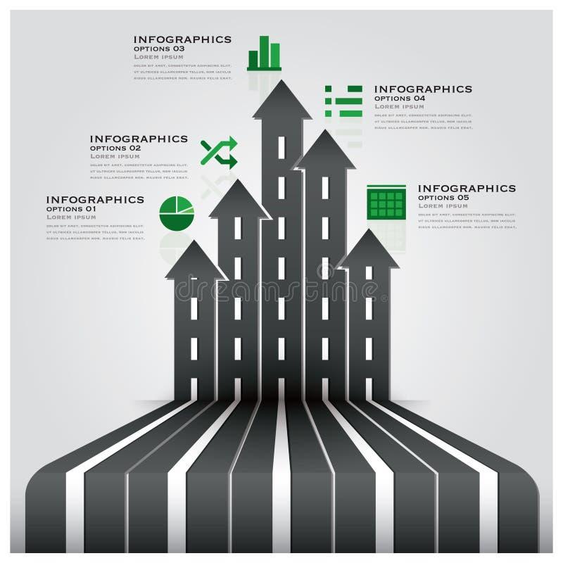 Affaires Infographic de poteau de signalisation de route et de rue illustration libre de droits