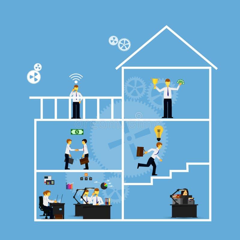 Affaires Infographics illustration libre de droits