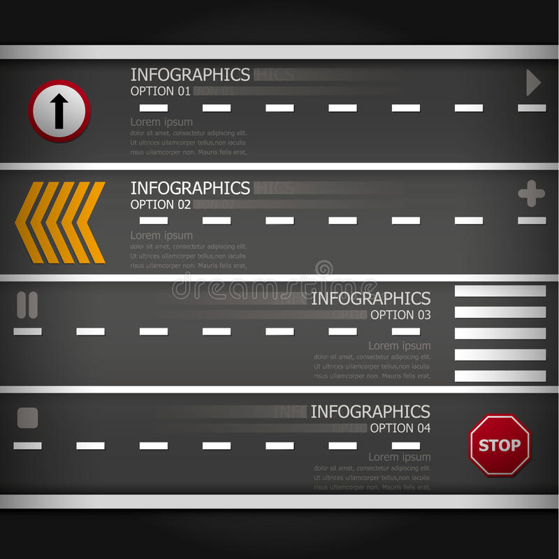 Affaires Infographics de route et de signe de rue illustration stock