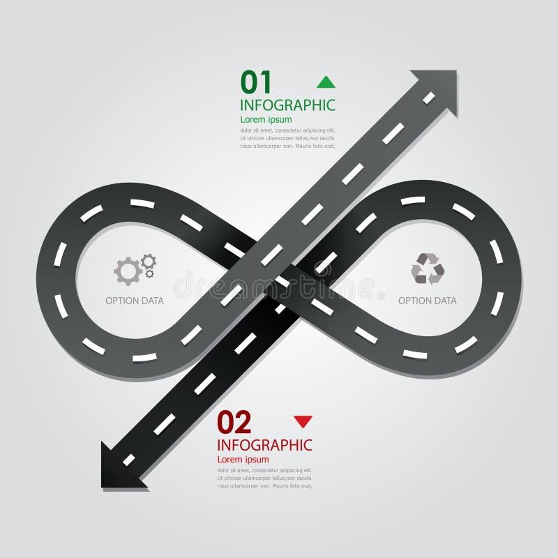 Affaires Infographics de rue et de route illustration de vecteur
