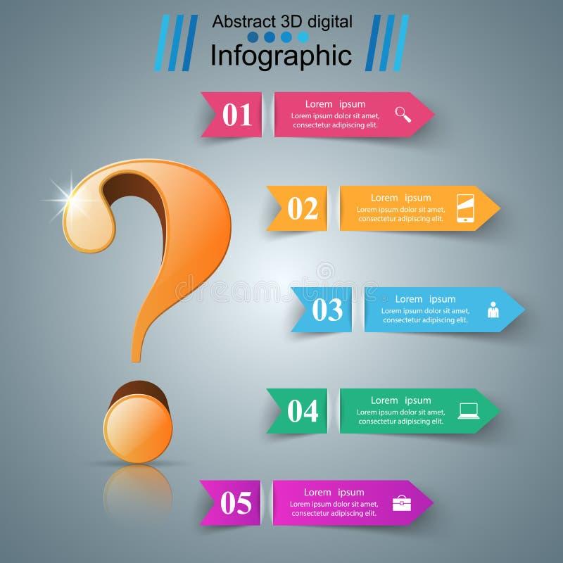 Affaires Infographics Point d'interrogation comme ondulation de l'eau illustration de vecteur