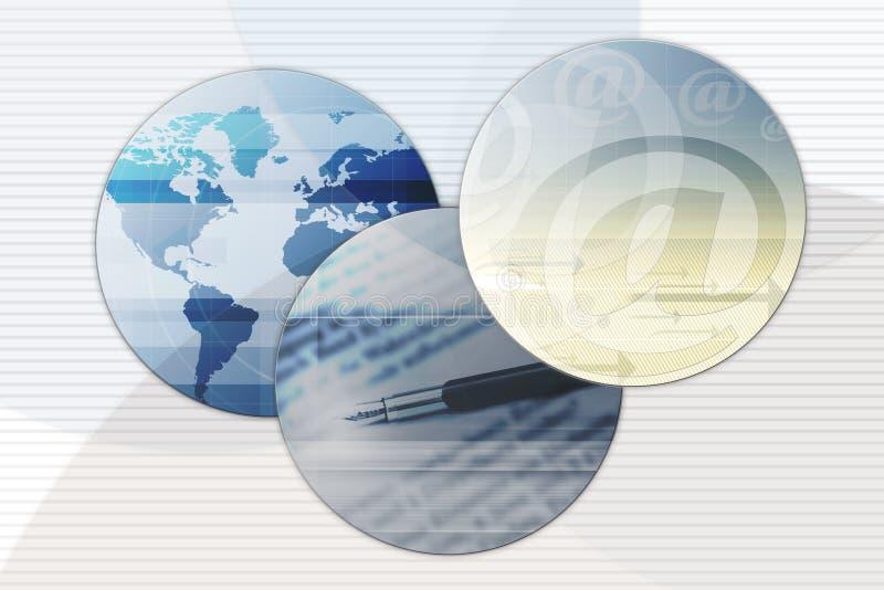 Affaires internationales illustration stock