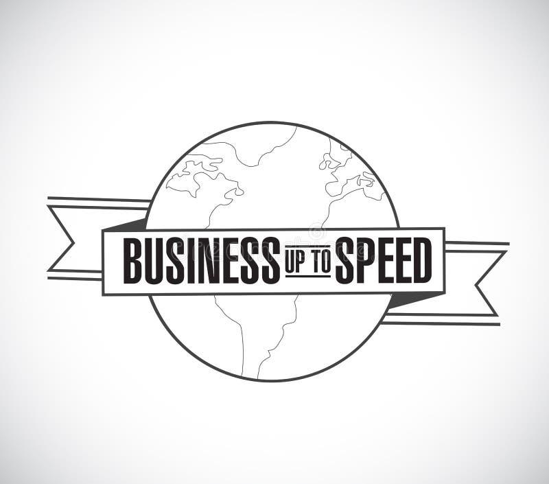 Affaires jusqu'à la ligne message de vitesse de ruban de globe illustration de vecteur