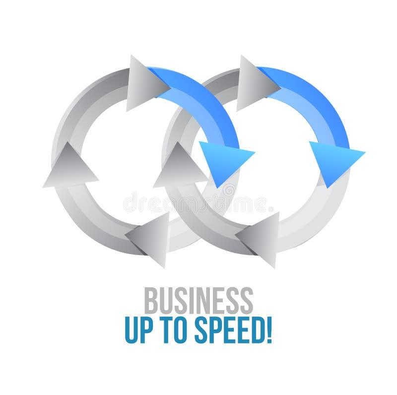 Affaires jusqu'à la vitesse rapprocher le signe de concept de cycle illustration stock