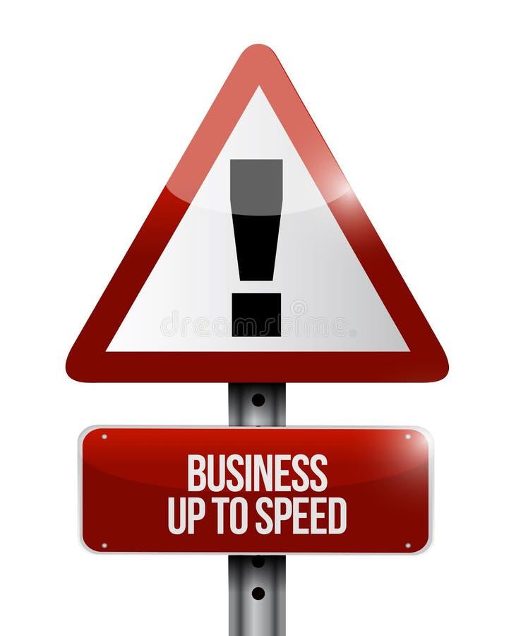Affaires jusqu'au concept d'avertissement de plaque de rue de vitesse illustration de vecteur