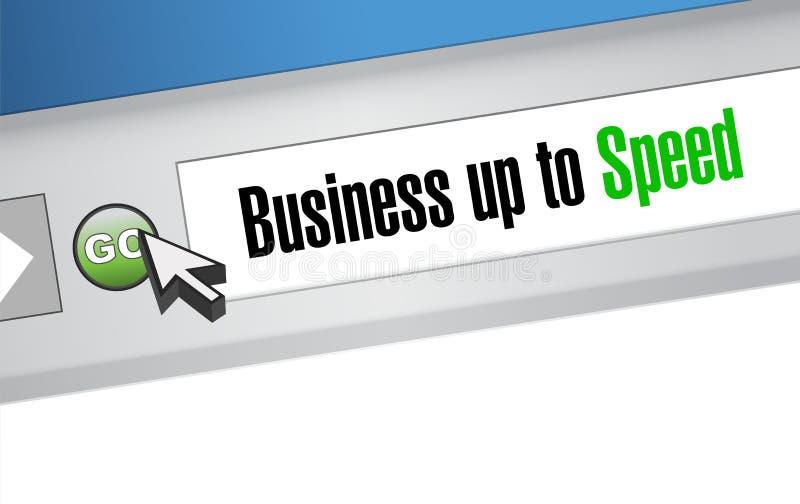 Affaires jusqu'au signe en ligne de navigateur de vitesse illustration libre de droits