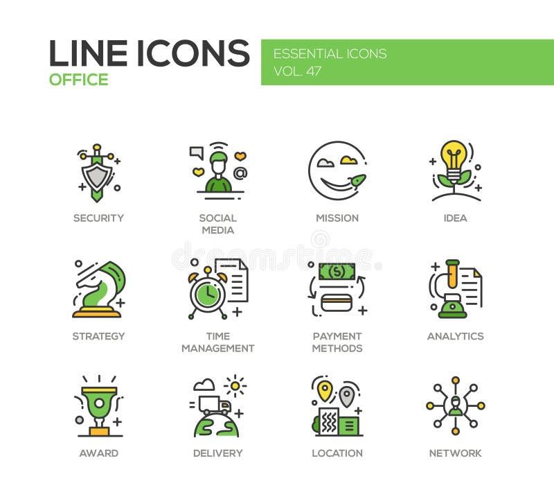 Affaires - ligne plate icônes de conception réglées illustration stock